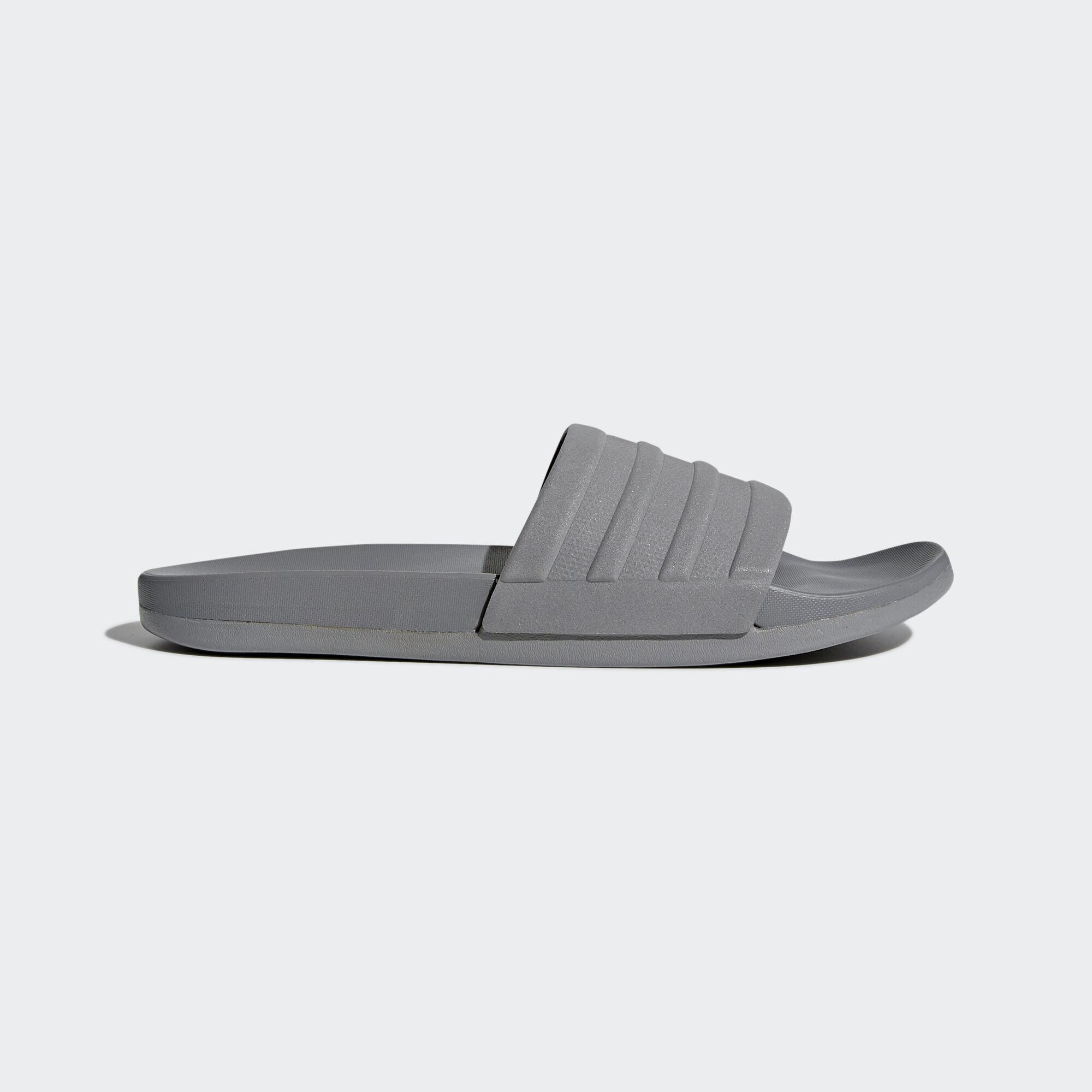 e9eac3440c11 adidas adilette Cloudfoam Plus Mono Slides - Grey